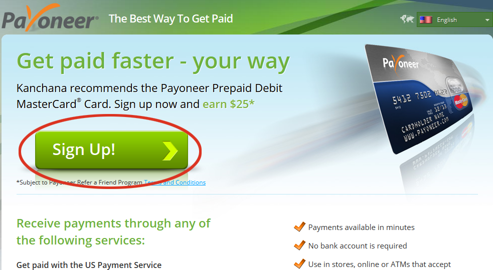 Payoneer debit card forex
