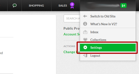 Fiverr v2 Account Settings Menu
