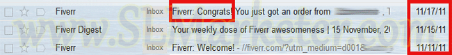 Fiverr 1st Sale 1st Week