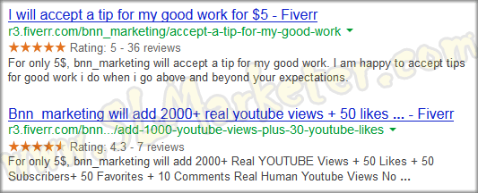 Fiverr SEO Positive Rating