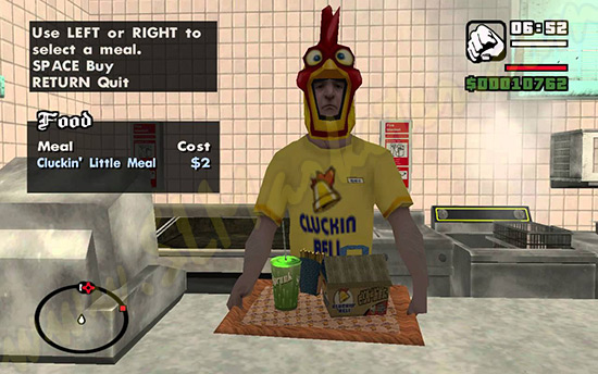GTA San Andreas Restaurant Vomitting